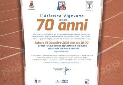 Il 14 dicembre Atletica Vigevano compie 70 anni: scarica l'invito!